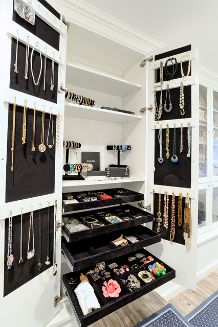 Wall Jewelry Armoire Closet Traditional with Accessories Built in Jewelry