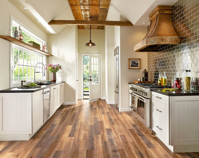 Waterproof Laminate Flooring Kitchen Contemporary With