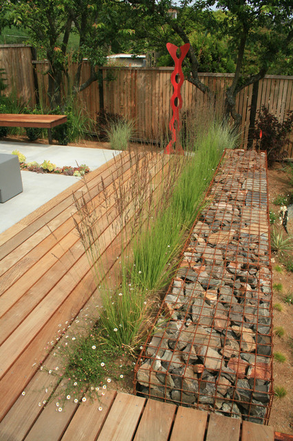 Welded Wire Panels Landscape Industrial with Art Contemporary Daisy Deck