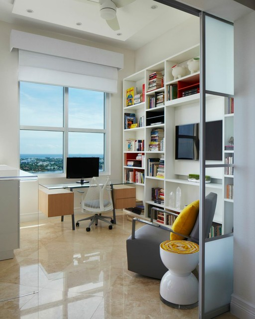 West Palm Beach Locksmith Home Office Contemporary with Beach Condo Beach Front