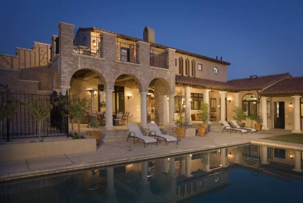 Whipped Cream Maker Exterior Mediterranean with Beautiful Pools Columns Indoor Outdoor