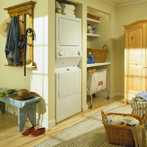 Whirlpool Stackable Washer and Dryer Laundry Room Eclectic with Laundry Room Laundry Organize