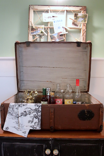 Whiskey Tumbler Spaces Shabby Chic with My Houzz 2