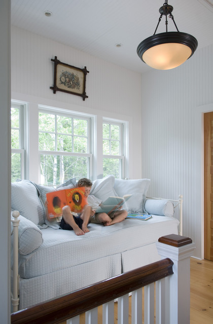 White Daybed with Trundle Kids Traditional with Cottage Living Dark Wood