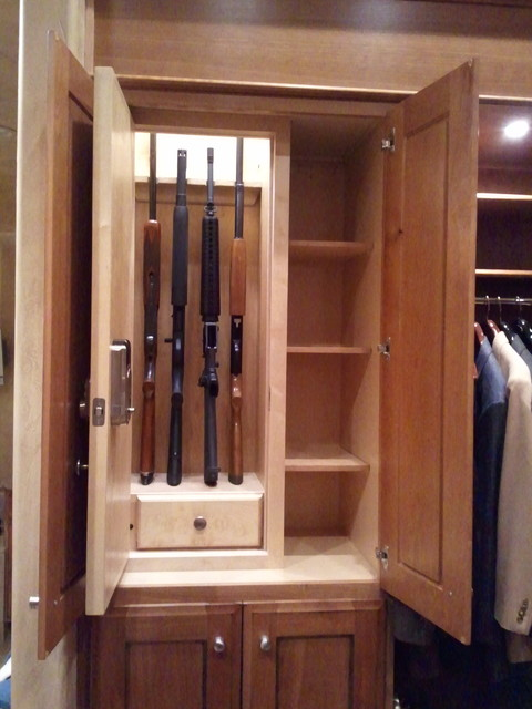 Wifi Deadbolt Closet Traditional with Ammo Drawer Cabinet Concealed5