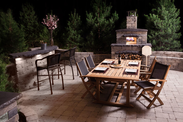 Wood Burning Pizza Oven Patio Contemporary with Bar Concrete Bar Concrete
