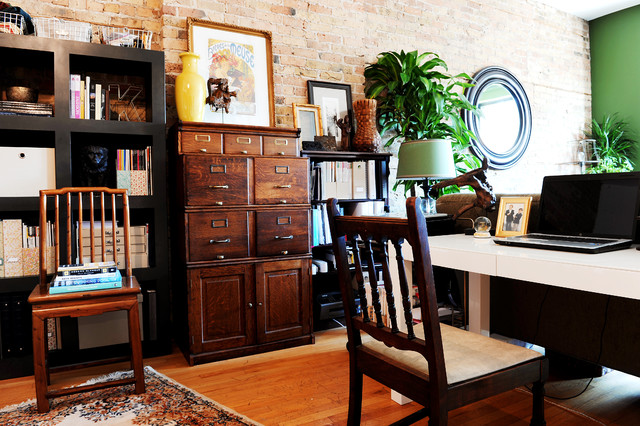 Wooden Filing Cabinets Home Office Eclectic with Black Bookshelves Color Eclectic