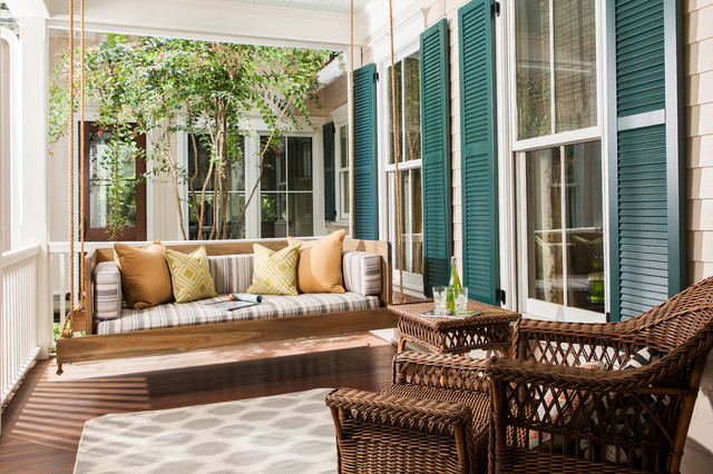 Wooden Porch Swings Porch Traditional with Bed Contemporary Day Bed