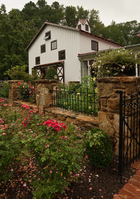 Wrought Iron Fence Cost Landscape Traditional with Awning Window Beige Exterior