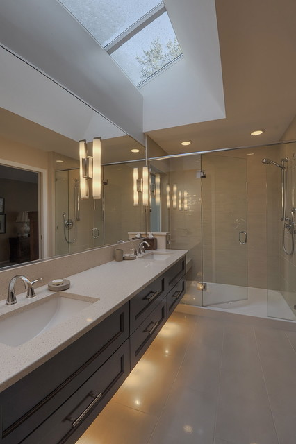 Xenon Under Cabinet Lighting Bathroom Contemporary With Ceiling Dark Wood