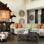 Cuddler Sofa for Eclectic Living Room