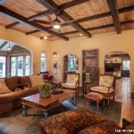 Monte Carlo Ceiling Fans for Rustic Living Room