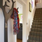 Striped Carpets for Stairs for Eclectic Entrance