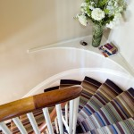 Striped Carpets for Stairs for Eclectic Staircase