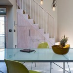 Under Stair Storage for Contemporary Dining Room