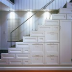 Understairs Storage for Contemporary Staircase