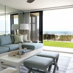 Indoor Outdoor Rugs with Tropical Family Room and White Coffee Table