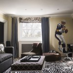 Ra the Rugged Man with Contemporary Family Room and Crown Molding