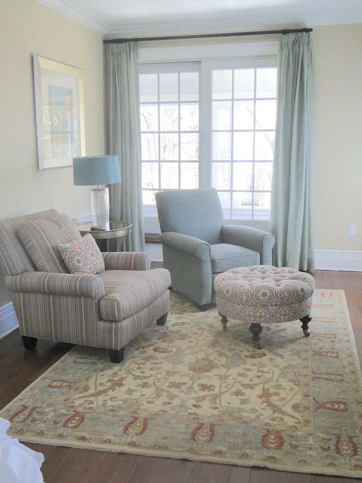 Rug and home with transitional bedroom and custom window for Transitional bedroom