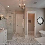 10 X 12 Rugs with Traditional Bathroom and  Tile Floor  White Cabinets  White Blinds  Master Bathroom  Tile Wall