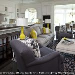10 X 12 Rugs with Traditional Living Room and  Roman Shades  Tile  Upholstered Ottoman  Yellow		 					 		  		  Dining