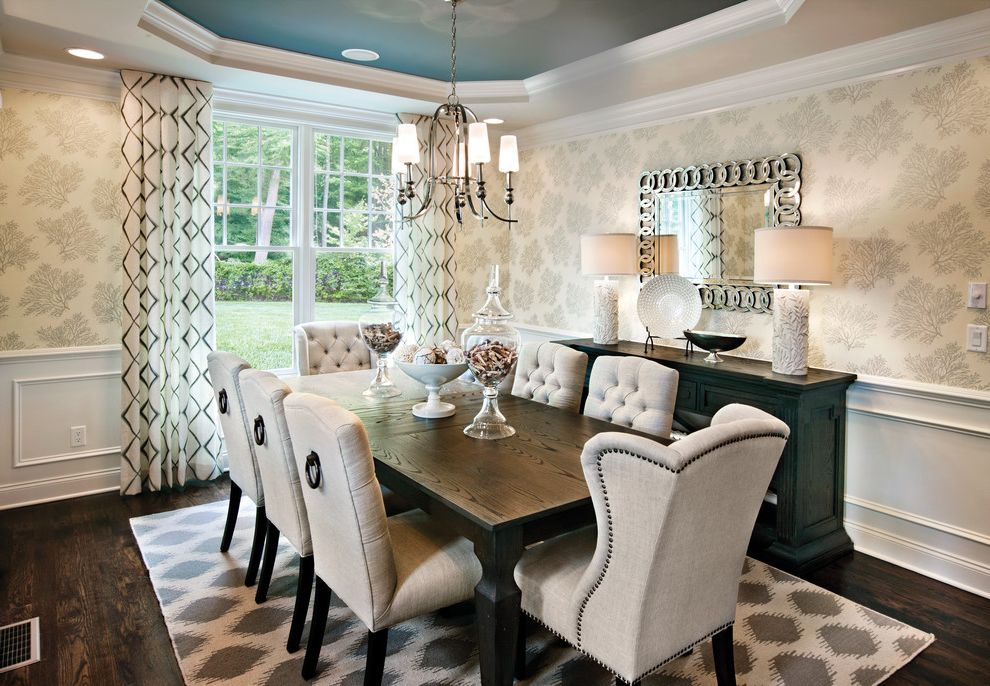 10x14 Area Rugs With Transitional Dining Room And Sideboard White Lamps Wallpaper Rug Drapery