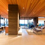 4x6 Area Rugs with Contemporary Living Room and  Rammed Earth  Wood and Sky     Stone