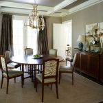 4x6 Area Rugs with Traditional Dining Room and  Formal Dining Room  Dark Wood Dining Chair  White Beams     Coffered Ceiling  Traditional