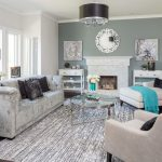 5x7 Area Rugs with Transitional Living Room and  Wall Art     Staging  Commercial  Residential  Drum Shade Chandelier