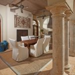 9x12 Area Rugs with Mediterranean Dining Room And