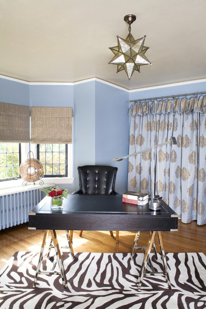 Animal Print Area Rugs With Traditional Home Office And Wood