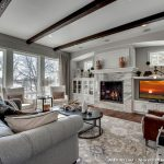 Area Rugs Home Depot with Traditional Living Room and  Picture Windows  Nook  Curtain  Built in Cabinets  High Ceiling