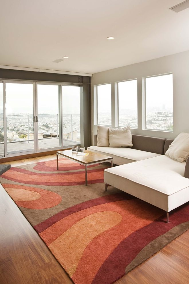 Area Rugs Ikea With Contemporary Family Room And Sectional Sofa Technicolor Rug Sliding Doors