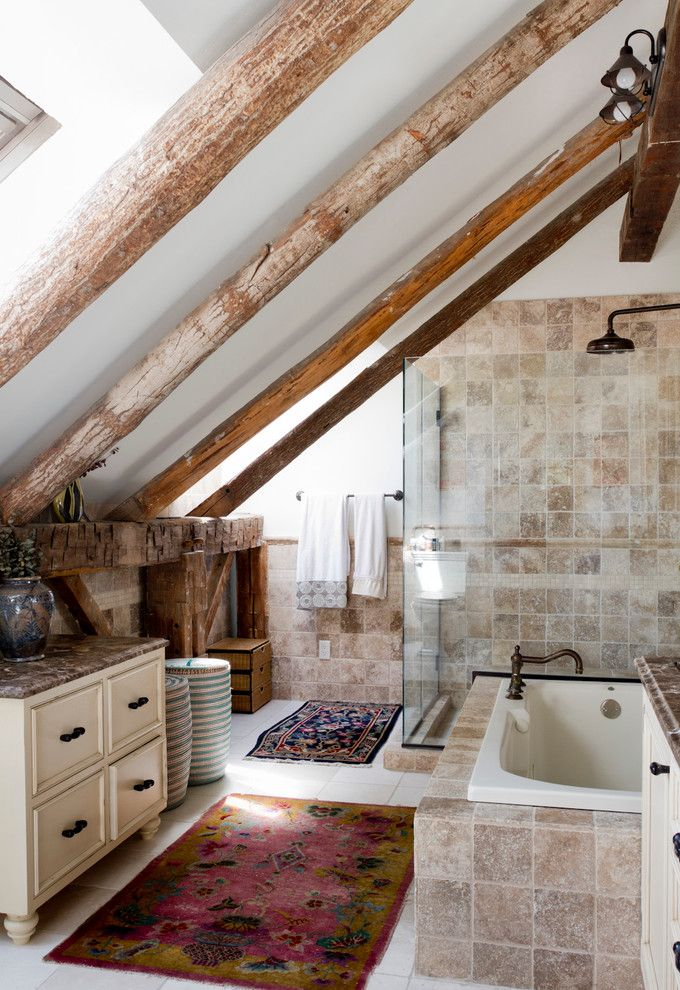Bath Rug Sets with Eclectic Bathroom and Shower Bathtub Combination ...