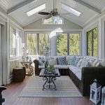 Bfg Rugged Terrain with Beach Style Sunroom and  White Ceiling     Outdoor Ceiling Fan  Slanted Ceiling  Tall Ceilings  Sunroom
