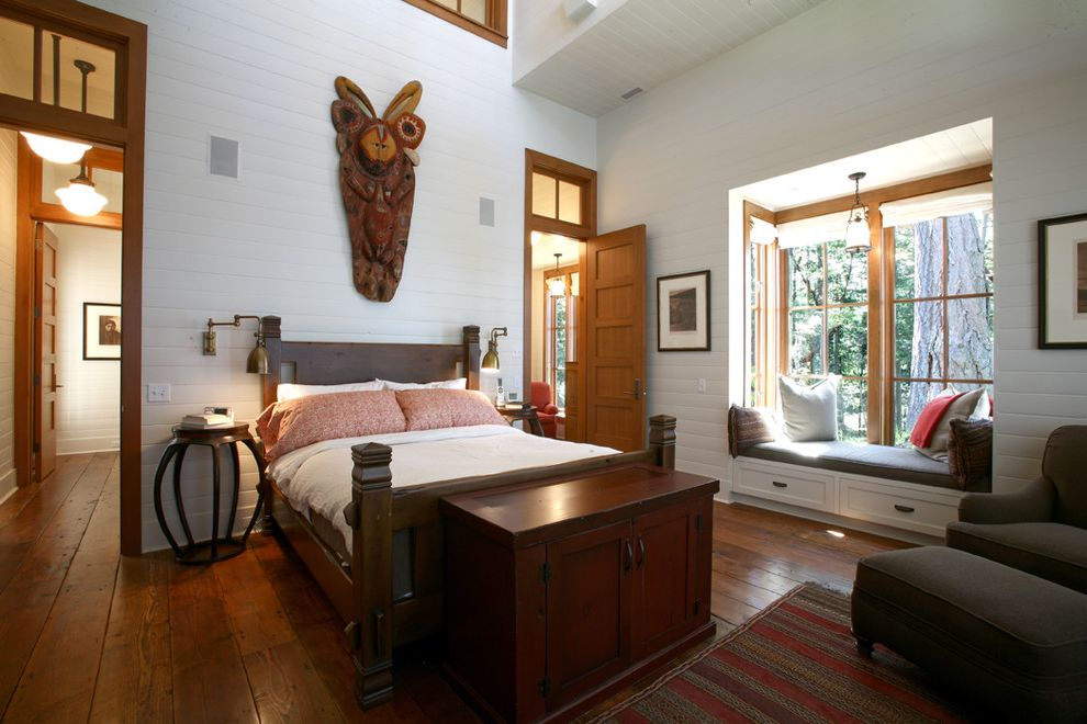 bfg rugged terrain with rustic bedroom and sconce storage wall