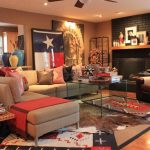 Big Lots Rugs with Southwestern Living Room and  Brick Fireplace  Urns     Glass Table  Rustic  Rug