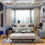 Blue Area Rugs with Transitional Living Room and  White Ceiling     Natural Light  Blue Home Decor  Elegant Living Room  Grey Rug