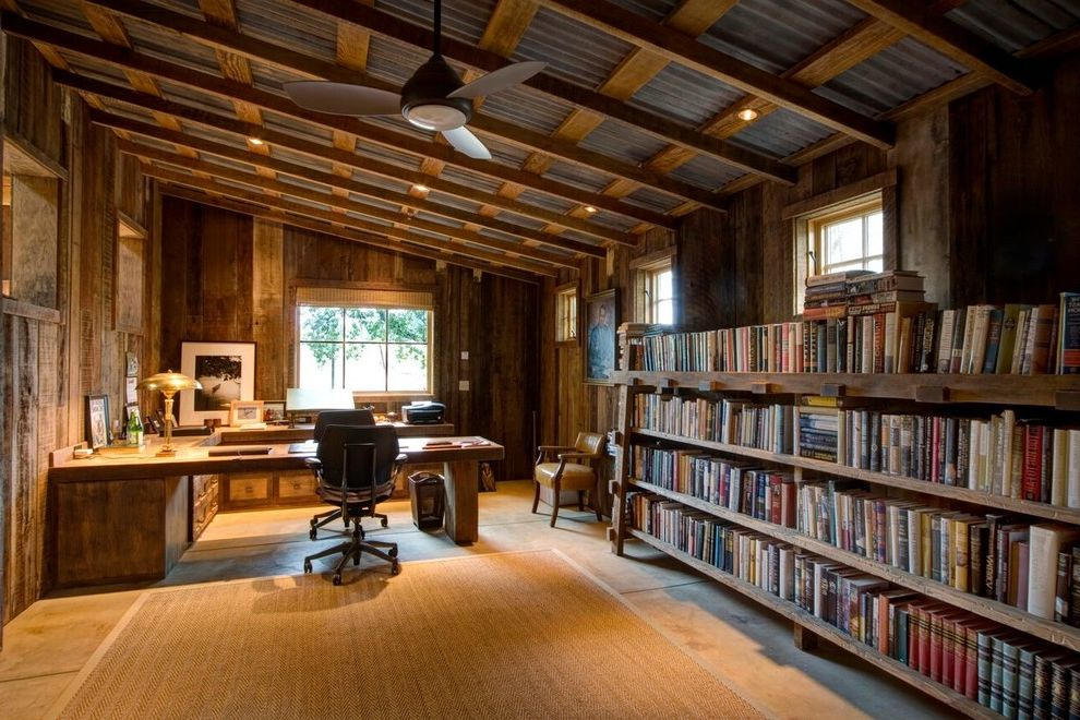 attic study ideas - Calvin Klein Rugs with Rustic Home fice and Window