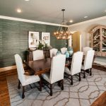 Cheap Rugs Online with Transitional Dining Room and  Drapery Hardware  Chandelier  Casual Elegance  Wood Table  Dining Room