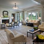 Coastal Area Rugs with Victorian Living Room and  Arm Chairs  Tan  White Casing     Bay Window  Seating Area