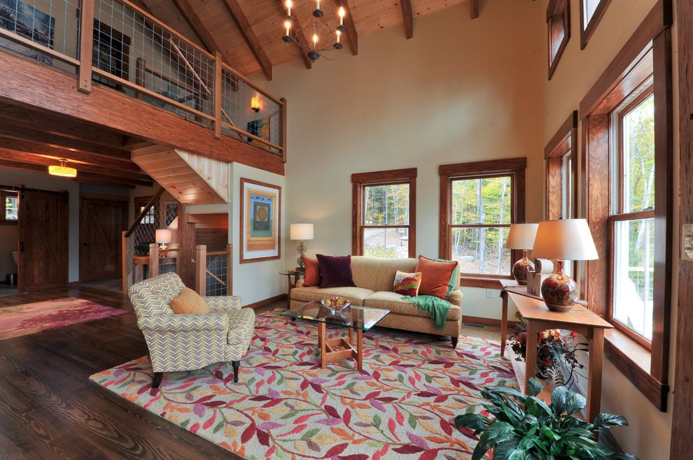 Company C Rugs with Farmhouse Living Room and Colorful ...