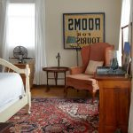 Cost Plus Rugs with Beach Style Bedroom and  Oriental Rug  White Curtains  Beach House  Vintage Sign  Floor Lamp