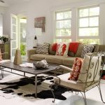 Cow Hide Rug with Contemporary Living Room and  West Elm  Metal Chair  Side Table  Whimsy  Upper East Side
