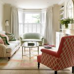Crochet Rug Patterns with Traditional Living Room and  Upholstered Armchair  Display Shelving  Glass Top Table  Colourful  Living Room