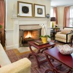 Cut a Rug with Traditional Living Room and  Nail Head Trim  Drapes  Murano Glass  Fireplace Surround  Fireplace Screen