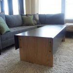 Discount Area Rugs with Rustic Living Room and  White Lamps  Large Sectional  Light Wood  Wooden Coffee Table  Large Couch