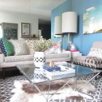 Faux Sheepskin Rug with Contemporary Living Room and  Glass Coffee Table  My Houzz  Mixed Prints  Polka Dots     Drum Shade