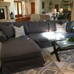 Gray and White Rug with Contemporary Living Room and  Sacramento  Sectional Sofa with Chaise Lounge  Upholstery     L Shaped Couch  Placer