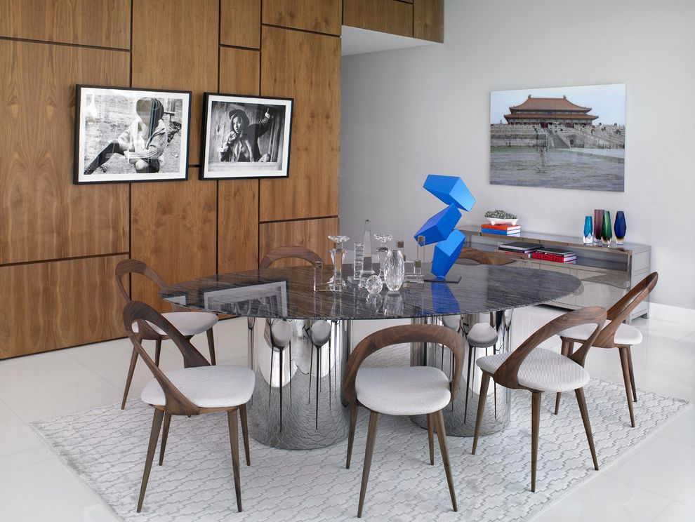 Grey Area Rugs With Contemporary Dining Room And Rug Wood Paneling Artwork Cowhide Wallpaper